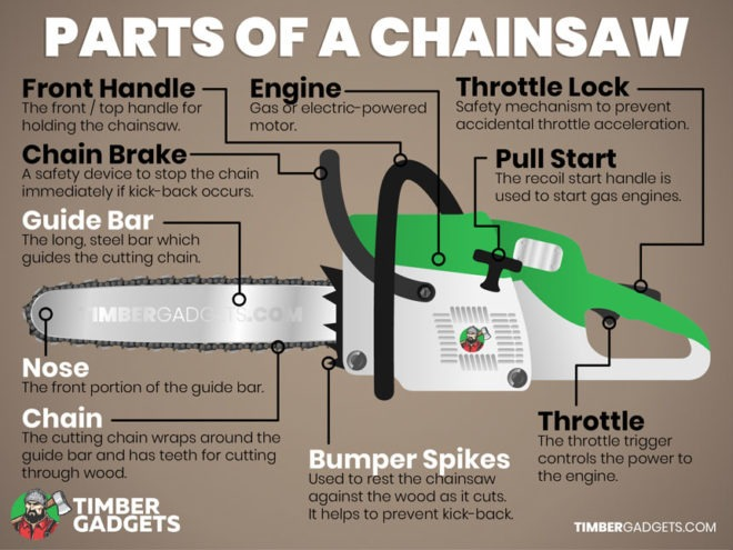 Parts of a Chainsaw
