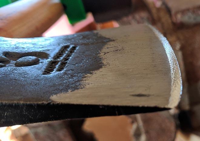 Hatchet Cutting Edge - Shavings